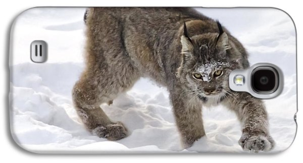 Snow-shovelling Lynx Galaxy S4 Case