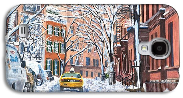 Town Galaxy S4 Case - Snow West Village New York City by Anthony Butera