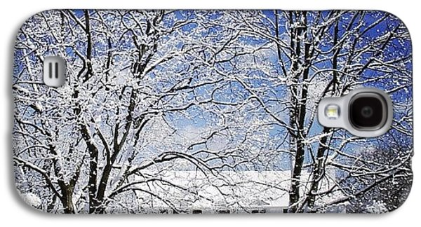 #snow #winter #house #home #trees #tree Galaxy S4 Case