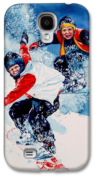 Snowboard Psyched Galaxy S4 Case by Hanne Lore Koehler