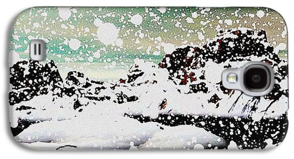 Winter Digital Art Galaxy S4 Cases - Snowfall Galaxy S4 Case by Anastasiya Malakhova