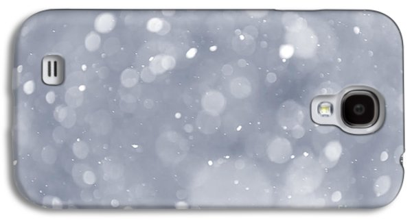 Snowfall Background Galaxy S4 Case by Elena Elisseeva