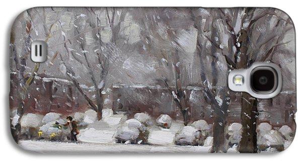 Snowfall In Royal Park Apartments Galaxy S4 Case by Ylli Haruni