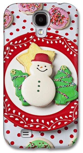 Snowman Cookie Plate Galaxy S4 Case