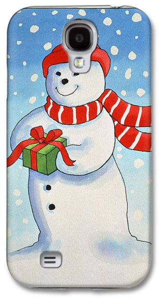 Snowmans Christmas Present Galaxy S4 Case
