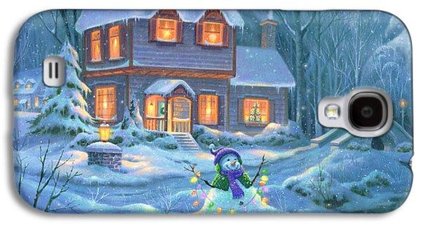 Snowy Bright Night Galaxy S4 Case