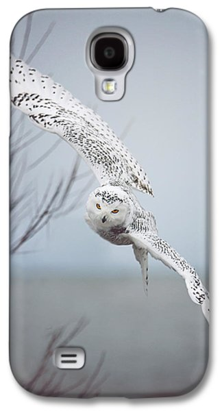 Snowy Owl In Flight Galaxy S4 Case