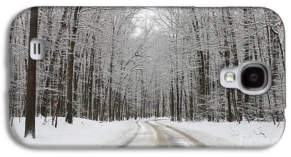 Snowy Road In Oak Openings 7058 Galaxy S4 Case