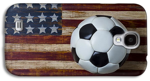 Soccer Ball And Stars And Stripes Galaxy S4 Case
