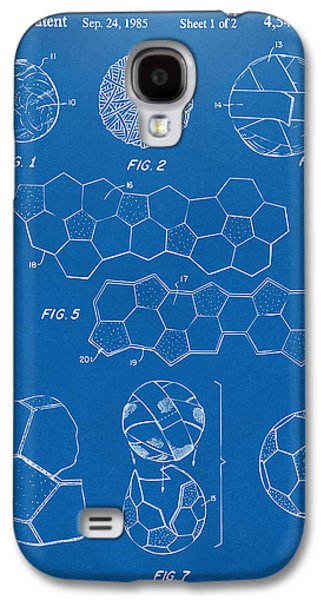 Soccer Ball Construction Artwork - Blueprint Galaxy S4 Case by Nikki Marie Smith