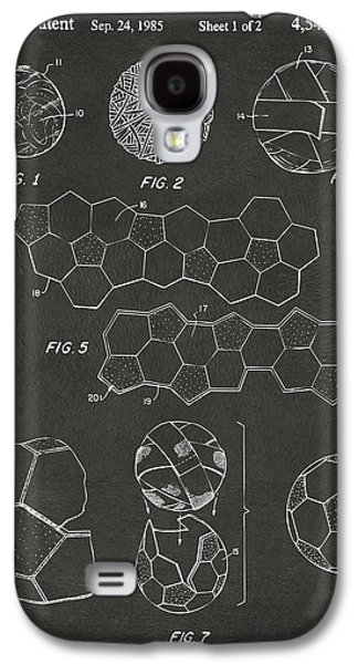 Soccer Ball Construction Artwork - Gray Galaxy S4 Case by Nikki Marie Smith