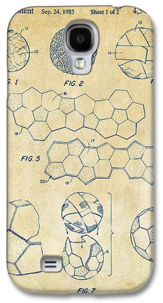 Soccer Ball Construction Artwork - Vintage Galaxy S4 Case by Nikki Marie Smith