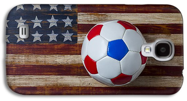 Soccer Ball On American Flag Galaxy S4 Case