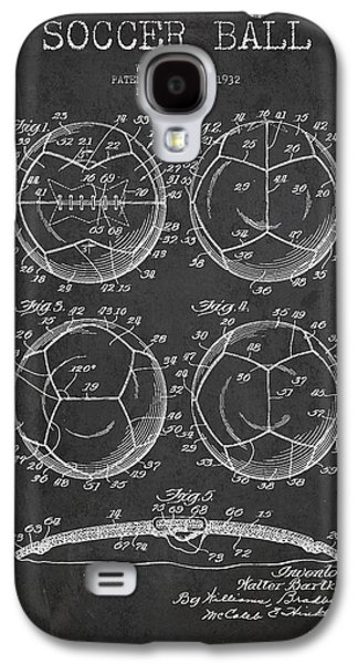Soccer Ball Patent Drawing From 1932 - Dark Galaxy S4 Case by Aged Pixel