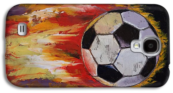 Soccer Galaxy S4 Case by Michael Creese