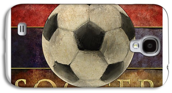 Soccer Poster Galaxy S4 Case by Craig Tinder