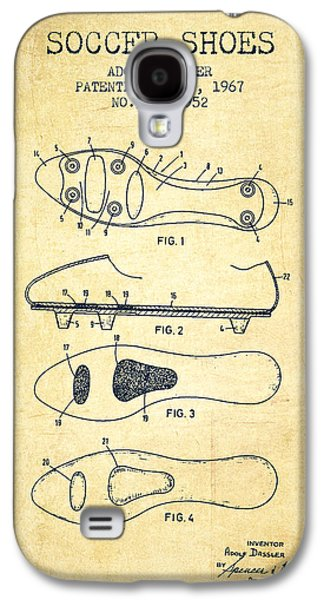 Soccer Shoe Patent From 1967 - Vintage Galaxy S4 Case by Aged Pixel