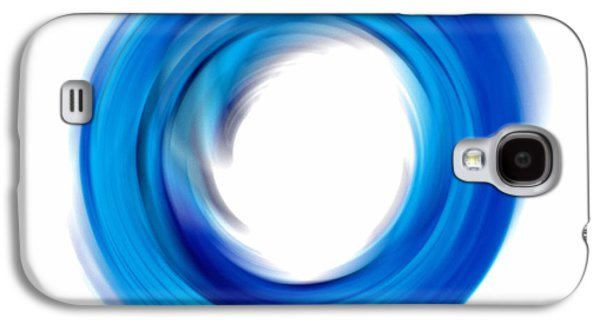 Soft Blue Enso - Abstract Art By Sharon Cummings Galaxy S4 Case by Sharon Cummings