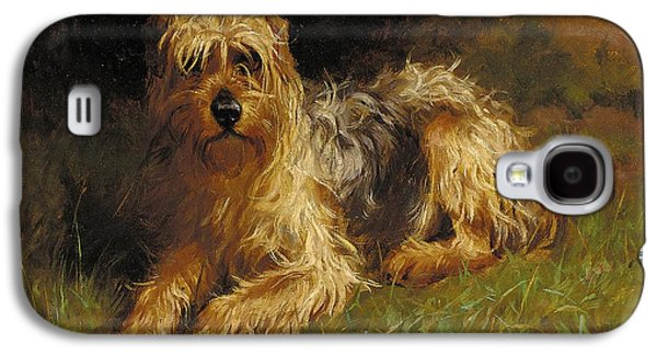 Soft Coated Wheaten Terrier  Galaxy S4 Case by Alfred Duke