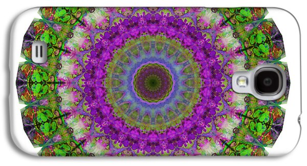 Soft Light - Kaleidoscope Mandala By Sharon Cummings Galaxy S4 Case by Sharon Cummings