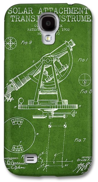 Solar Attachement For Transit Instruments Patent From 1902 - Gre Galaxy S4 Case by Aged Pixel