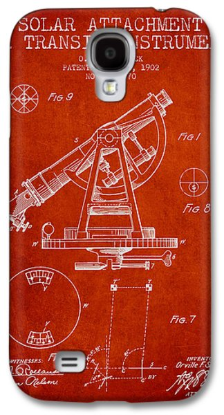 Solar Attachement For Transit Instruments Patent From 1902 - Red Galaxy S4 Case by Aged Pixel