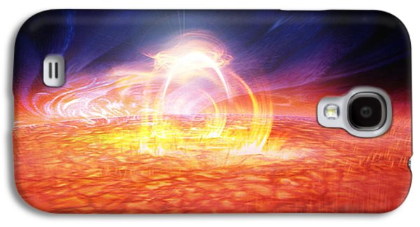 Solar Flare Galaxy S4 Case by Don Dixon