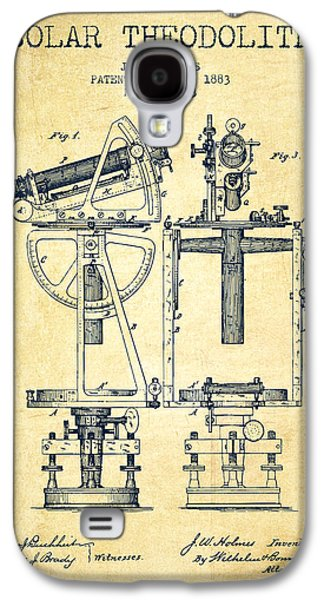 Solar Theodolite Patent From 1883 - Vintage Galaxy S4 Case by Aged Pixel
