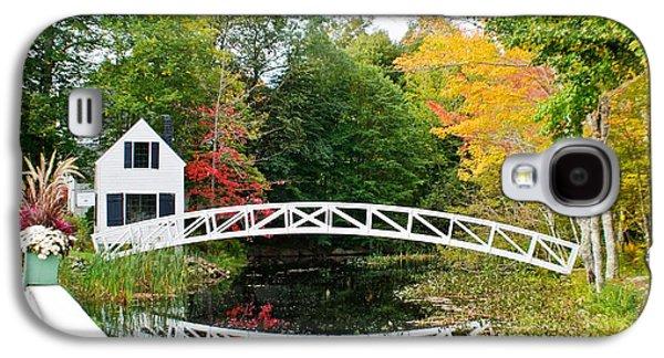 Somesville Bridge In Autumn Galaxy S4 Case by Lena Hatch