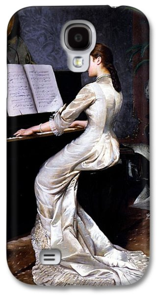 Song Without Words, Piano Player, 1880 Galaxy S4 Case by George Hamilton Barrable