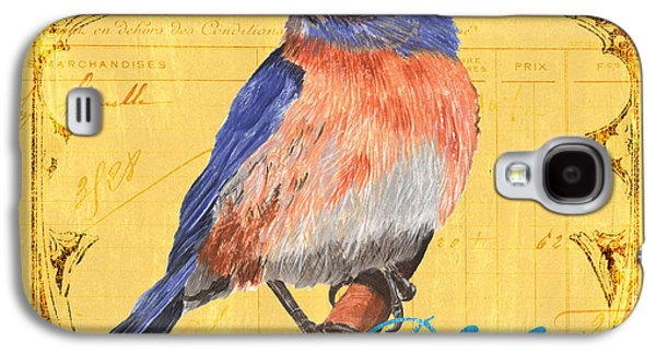 Bluebird Galaxy S4 Case - Colorful Songbirds 1 by Debbie DeWitt