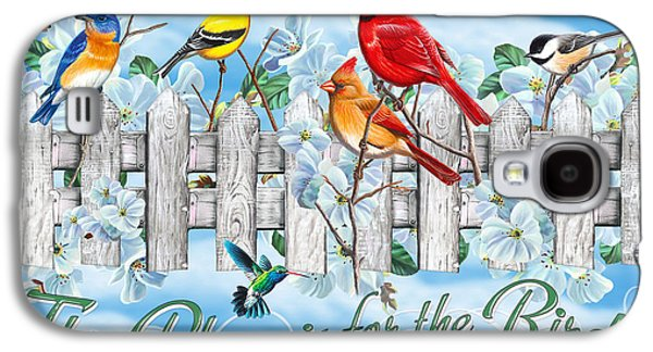 Bluebird Galaxy S4 Case - Songbirds Fence by JQ Licensing