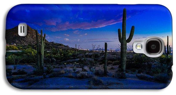 Desert Sunset Galaxy S4 Case - Sonoran Desert Saguaro Cactus by Scott McGuire