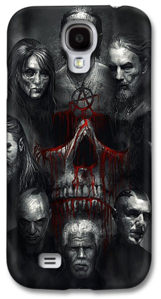 Sons Of Anarchy Tribute Galaxy S4 Case by Alex Ruiz