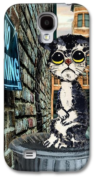 Sorrowful Cat On Can Galaxy S4 Case