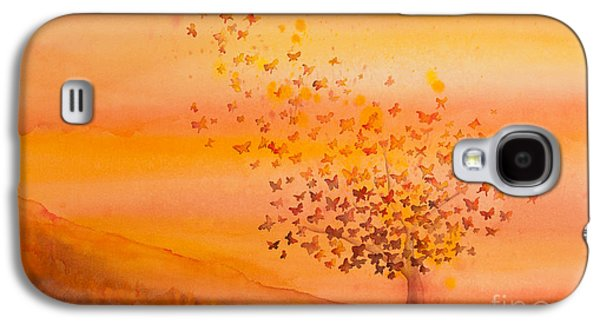 Soul Freedom Watercolor Painting Galaxy S4 Case by Michelle Wiarda