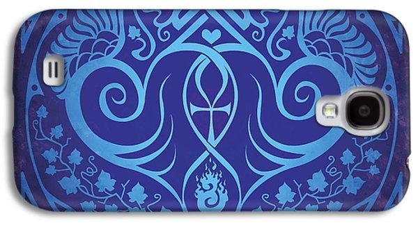 Soul Mates - Blue Galaxy S4 Case by Cristina McAllister