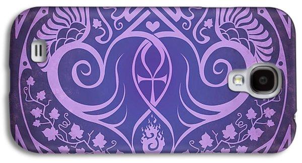 Soul Mates - Purple Galaxy S4 Case by Cristina McAllister