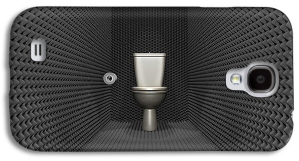 Soundproof Toilet Cubicle Galaxy S4 Case by Allan Swart