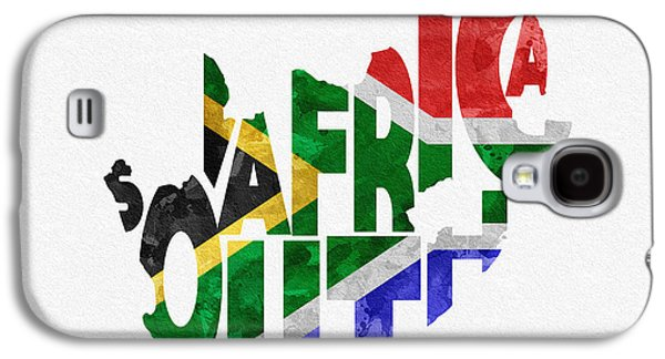 South Africa Typographic Map Flag Galaxy S4 Case