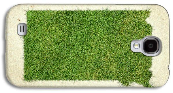 South Dakota Grass Map Galaxy S4 Case by Aged Pixel