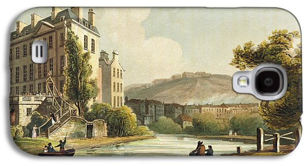 South Parade From Bath Illustrated Galaxy S4 Case by John Claude Nattes