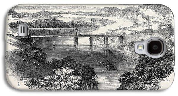 South Wales Railway, The Chepstow Tubular Suspension Bridge Galaxy S4 Case by English School