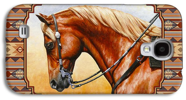 Southwestern Quarter Horse Pillow Galaxy S4 Case by Crista Forest
