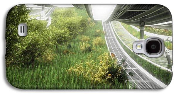 Space Colony Farm Galaxy S4 Case by Bryan Versteeg