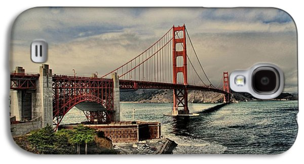 Space Shuttle Endeavour Over Golden Gate Bridge Galaxy S4 Case by Movie Poster Prints