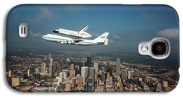 Space Shuttle Endeavour Piggyback Flight Galaxy S4 Case by Nasa/sheri Locke
