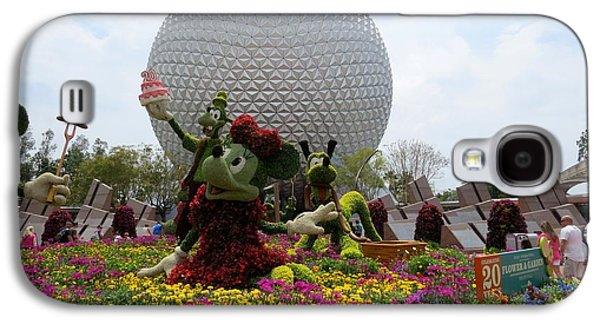 Spaceship Earth And Flower Garden Galaxy S4 Case by Zina Stromberg