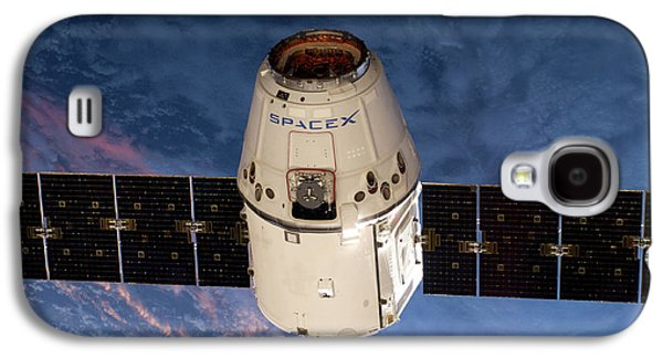 Spacex Dragon Capsule At The Iss Galaxy S4 Case by Nasa