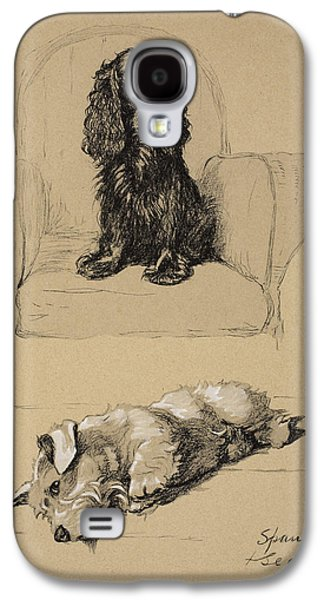 Spaniel And Sealyham, 1930 Galaxy S4 Case by Cecil Charles Windsor Aldin